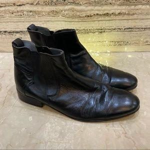 MEN Chelsea Boots Leather Black Size UK 9